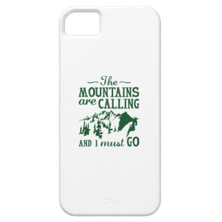 The Mountains Are Calling iPhone 5 Cover