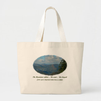 The Mountains Called / We Went / We Eloped! Jumbo Tote Bag