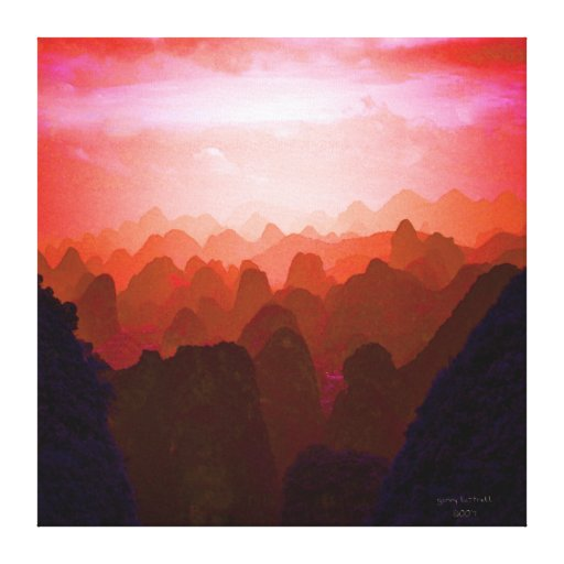 The Mountians of China Stretched Canvas Prints