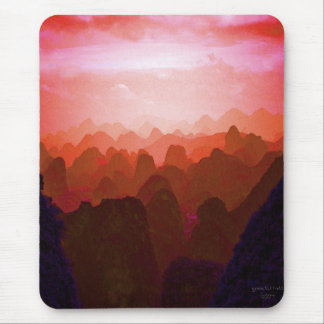 The Mountians of China Mouse Pad