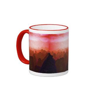 The Mountians of China Ringer Mug