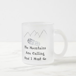 The Mountings are Calling Frosted Glass Mug