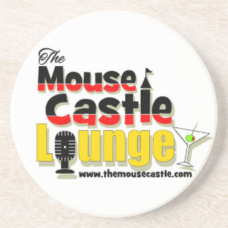 The Mouse Castle Lounge Sandstone Drink Coaster