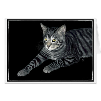 """The Mouser"" - Tabby Cat Card"