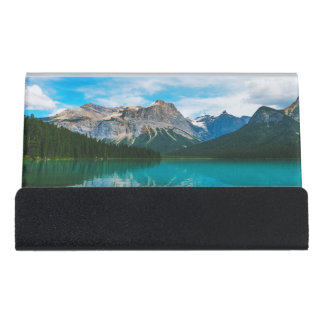 The Moutains and Blue Water Desk Business Card Holder