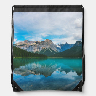 The Moutains and Blue Water Drawstring Bag