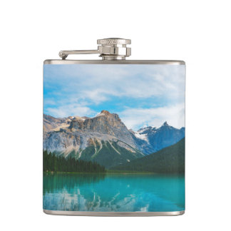 The Moutains and Blue Water Hip Flask