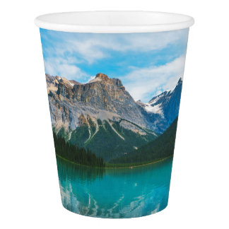 The Moutains and Blue Water Paper Cup