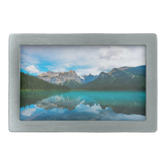 The Moutains and Blue Water Rectangular Belt Buckle