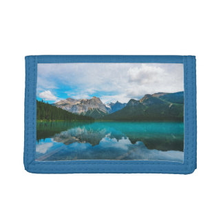 The Moutains and Blue Water Trifold Wallet