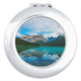 The Moutains and Blue Water Vanity Mirror