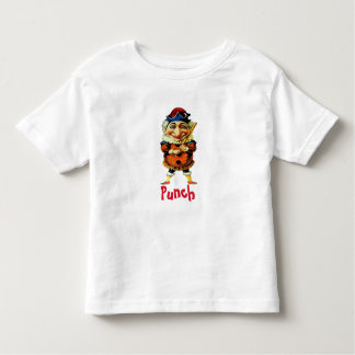 The Mr Punch Puppet, add text Toddler T-Shirt