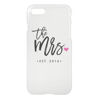 The Mrs. (Est. Your Wedding Year) iPhone 7 Case