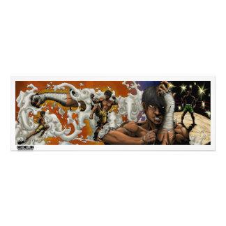 The muay thai man photo print