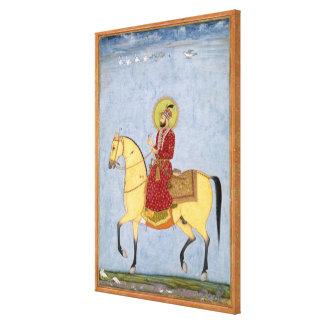 The Mughal Emperor Farrukhsiyar(1683-1719) (r.1713 Canvas Print