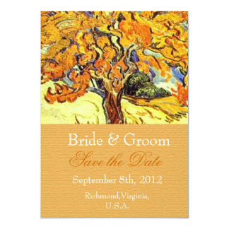 The Mulberry Tree save the date invitations. Card