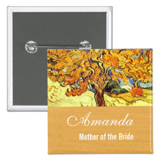 The Mulberry Tree Vincent van Gogh Wedding Button