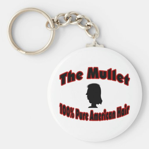 The Mullet 100% Pure American Hair Keychain