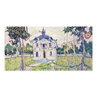 The Municipal House In Auvers By Vincent Van Gogh Personalized Photo Card