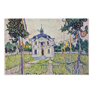 The Municipal House In Auvers By Vincent Van Gogh Poster