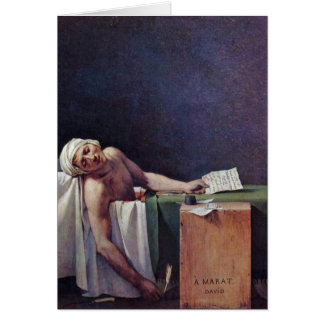 The Murdered Marat By Jacques-Louis David Cards