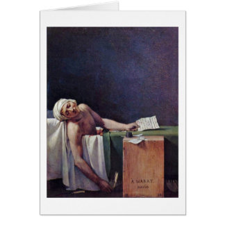 The Murdered Marat By Jacques-Louis David Card