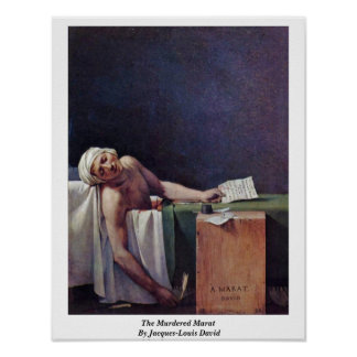 The Murdered Marat By Jacques-Louis David Poster