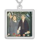 The Muse Inspiring the Poet, 1909 Silver Plated Necklace