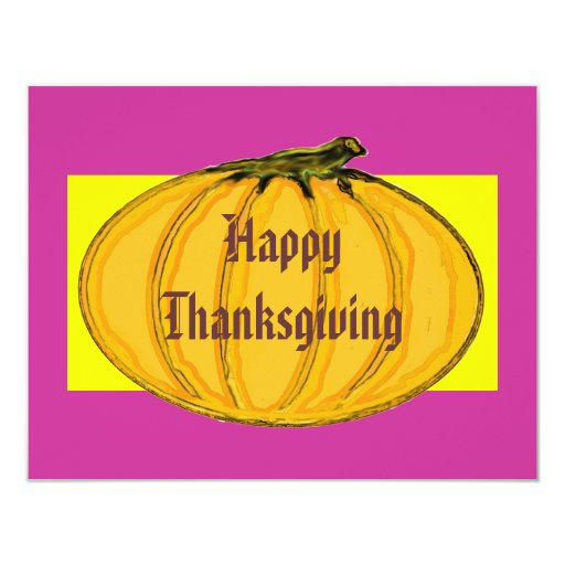 The MUSEUM Artist Series Happy Thanksgiving 2 yw 11 Cm X 14 Cm Invitation Card