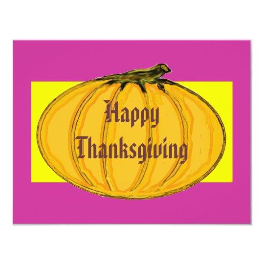 The MUSEUM Artist Series Happy Thanksgiving 2 yw 11 Cm X 14 Cm Invitation Card