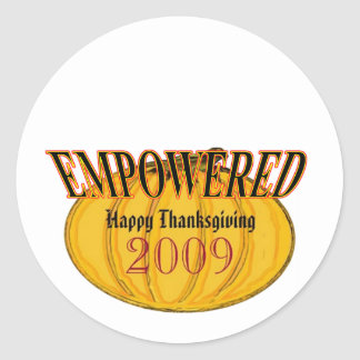 The MUSEUM Artist Series jGibney Happy 2009Empowed Round Sticker