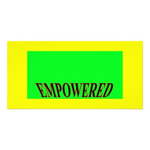 The MUSEUM Artist Series jGibney Happy Empowered Photo Card Template