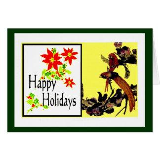 The MUSEUM Artist Series jGibney Happy Holidays Bi Greeting Card