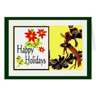 The MUSEUM Artist Series jGibney Happy Holidays Bi Greeting Card