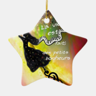 The music brings happiness to our life ceramic ornament