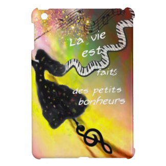 The music brings happiness to our life iPad mini cases