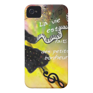 The music brings happiness to our life iPhone 4 case
