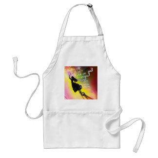 The music brings happiness to our life standard apron