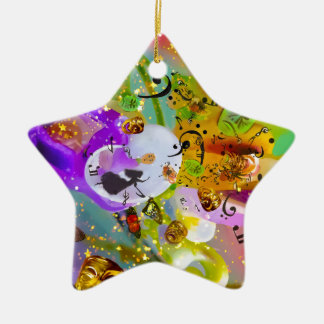 The music can express everything and say nothing. ceramic ornament