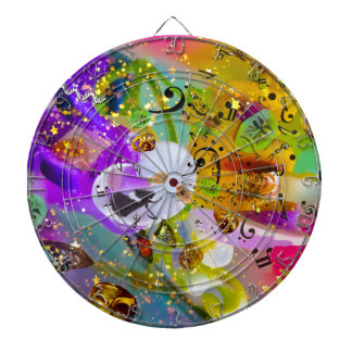 The music can express everything and say nothing. dartboard