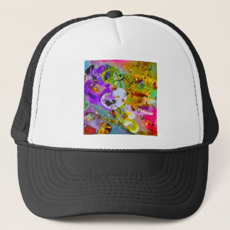 The music can express everything and say nothing. trucker hat