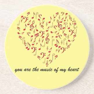 the music in my heart coaster