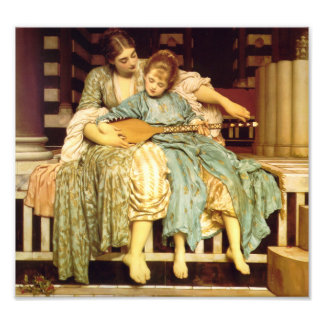 The Music Lesson by Frederic Leighton Photographic Print