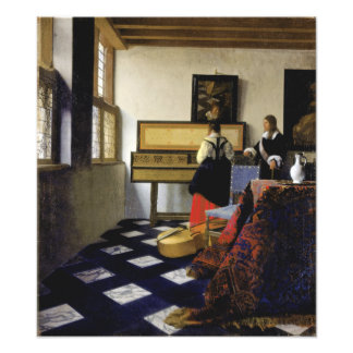 The Music Lesson by Johannes Vermeer Photographic Print