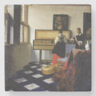 The Music Lesson by Johannes Vermeer Stone Coaster