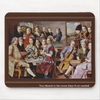 The Music Lesson By Vermeer Van Delft Jan Mouse Pads