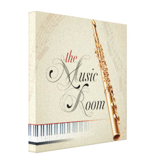 The Music Room Flute Canvas Print