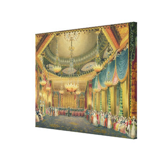 The Music Room, from 'Views of the Royal Pavilion, Stretched Canvas Print
