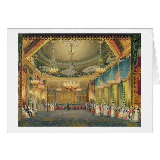The Music Room, from 'Views of the Royal Pavilion, Cards