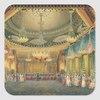 The Music Room, from 'Views of the Royal Pavilion, Square Sticker